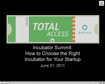 Incubator Summit How to Choose the Right Incubator